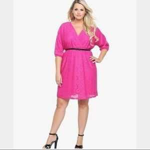Torrid Pink Lace Dress